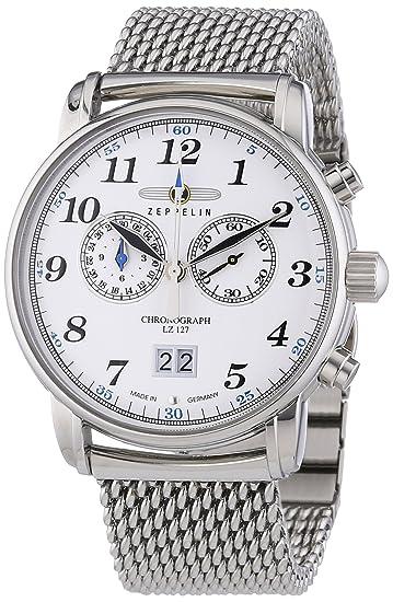 Zeppelin LZ127 Graf Zeppelin 7686M1 - Reloj cronógrafo de cuarzo para hombre, correa de acero