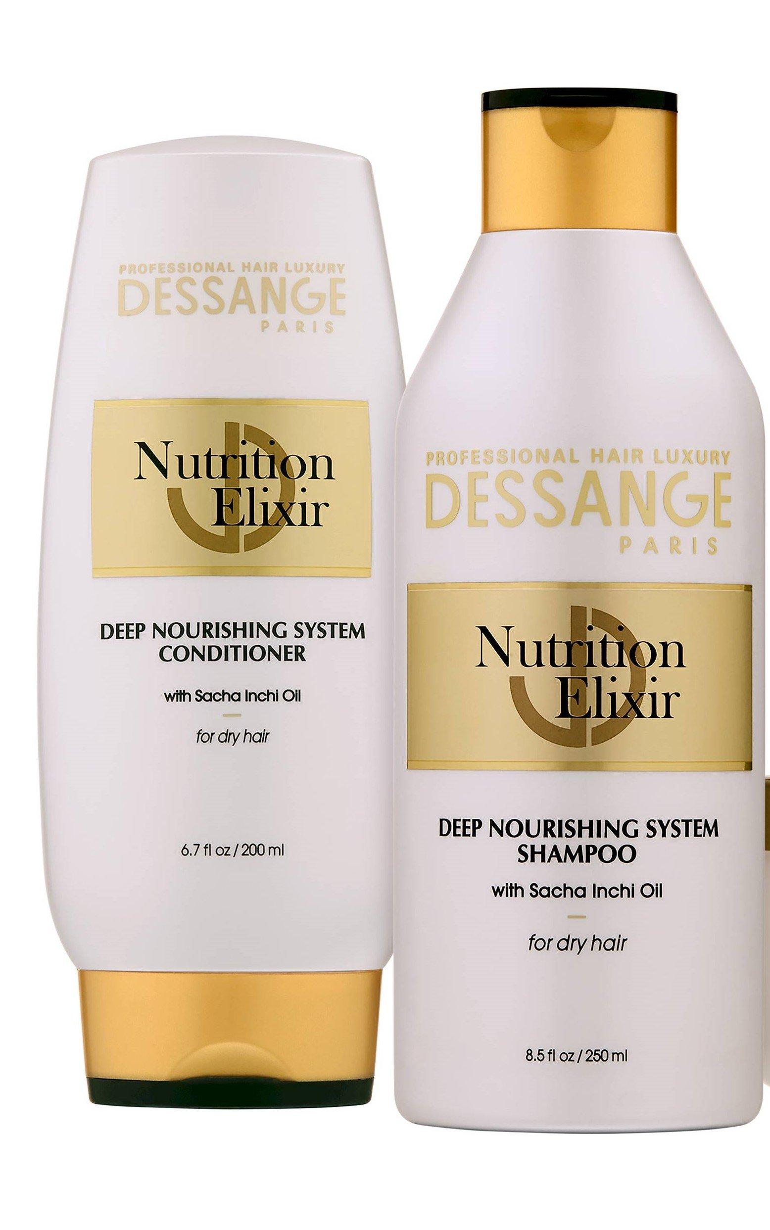 Dessange Paris Nutrition Elixir Deep Nourishing System Shampoo 8.5 Oz & Conditioner- 6.7oz