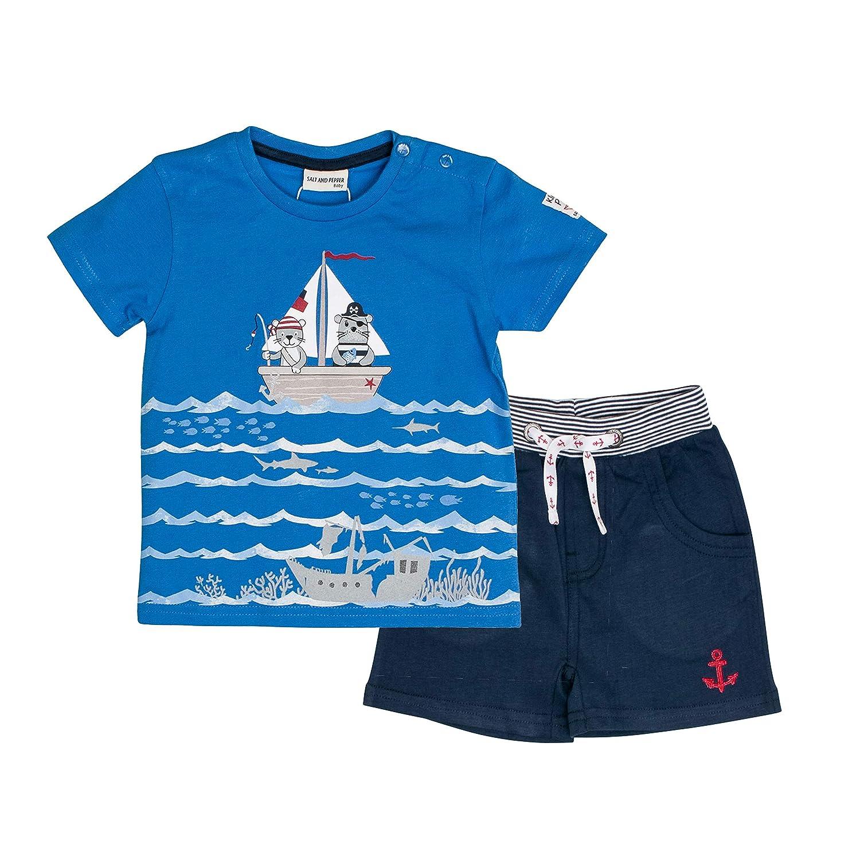 SALT AND PEPPER Baby-Jungen Bekleidungsset Set Piraten Uni Print