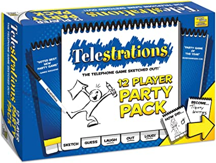 @New@ Telestrations 6 Player Family Pack Toy Game Kids Play Gift Christmas Gift
