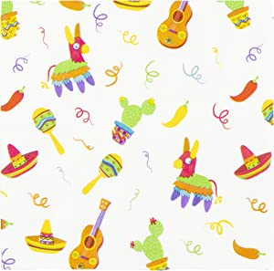 Fiesta Party Decorations, White Napkins (6.5 x 6.5 In, 150 Pack)