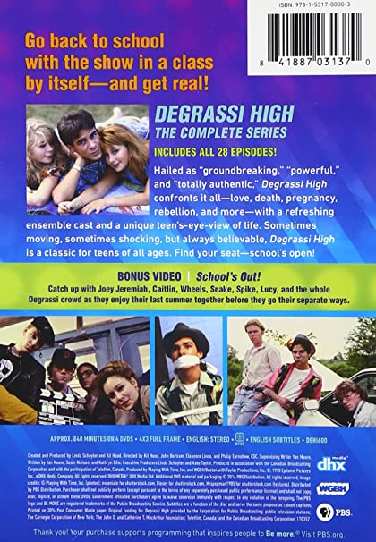Amazon com: Degrassi High: Degrassi High Complete Series DVD