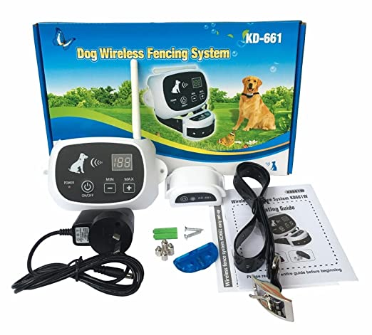amazoncom wireless 123 dog fence nowire pet containment system 2 dogs system kd661 pet supplies