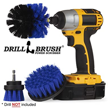 Boat Accessories - Kayak - Cleaning Supplies - Drill Brush - Rotary Cleaning Brushes for Boats and Watercraft - Canoes, Jet-Ski, Bass - Fiberglass, Aluminum, Gel Coat, Wood, Painted - Hull and Deck