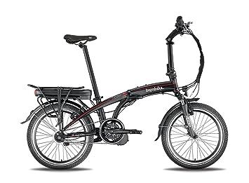 Bicicleta eléctrica plegable A-Class negro/rojo – Batería: Li-Ion Panasonic