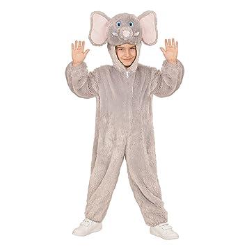 WIDMANN 98102 Infantil Disfraz Elefante de Peluche, Mono con Capucha y máscara