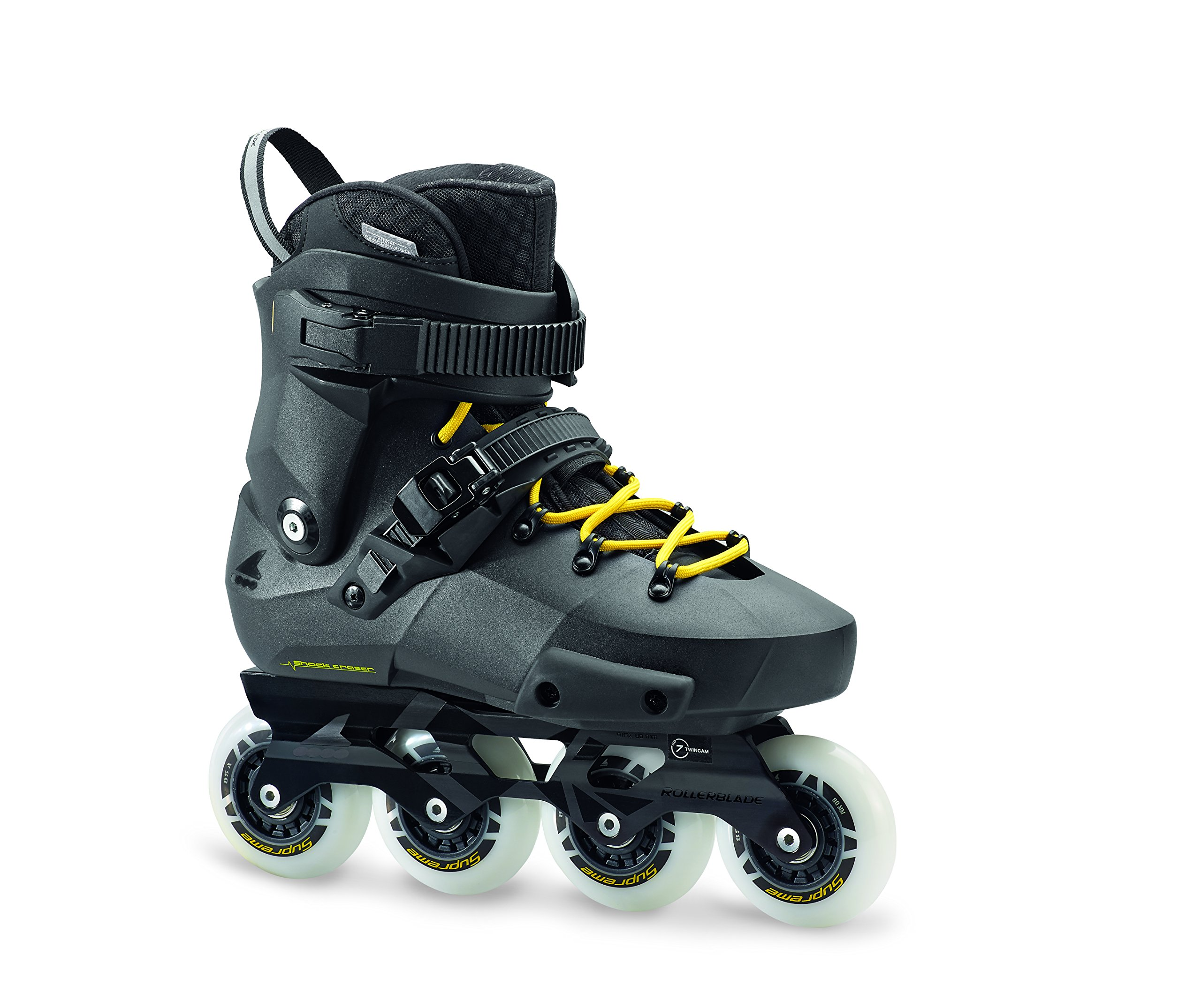 Rollerblade Men's Twister Edge Fitness Inline Skate, Black/Yellow, Size 12.5 by Rollerblade