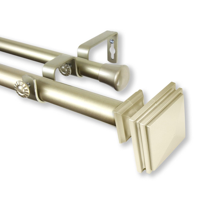 Rod Desyne Bedpost Double Curtain Rod 1 OD Set, 28-48, Mahogany 28-48 100-36-286-D