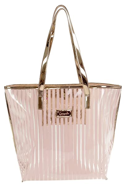 9ed6a50aa4 Camomilla Milano-Borsa Shopper crystal stripe pink: Amazon.it: Bellezza