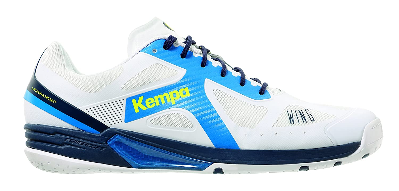 Herren Wing Lite Handballschuhe, Weiß (Blanco/Azul Fair/Azul Mar 000), 44.5 EU Kempa