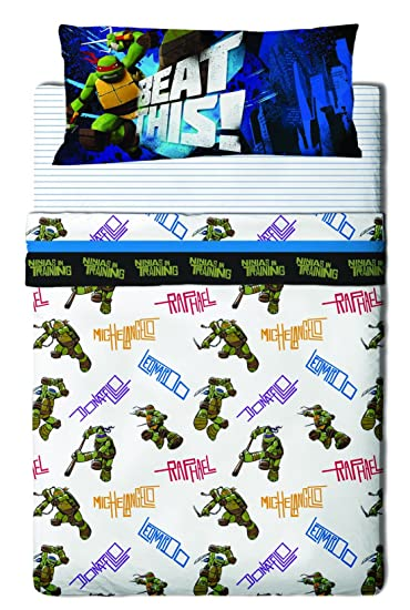 Tortugas Ninja Bros Juego SÁBANAS 3 Piezas Cama 90, Multicolor, 90 x 190 cm