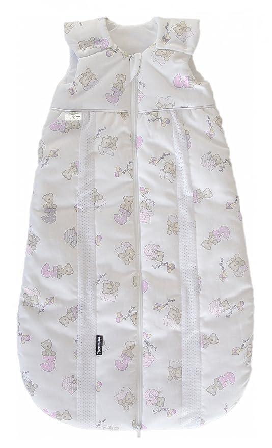 Odenwälder Prima Klima Saco de abrigo para bebé con aislamiento térmico osito rosa Talla:110