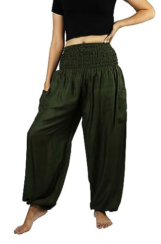 NaLuck – Pantalón – para mujer verde Verde Oscuro