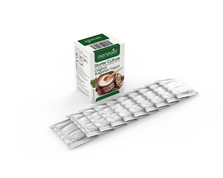natürliche probiotische 10L,... 10 Beutel Bulgarische Joghurt Starterkultur