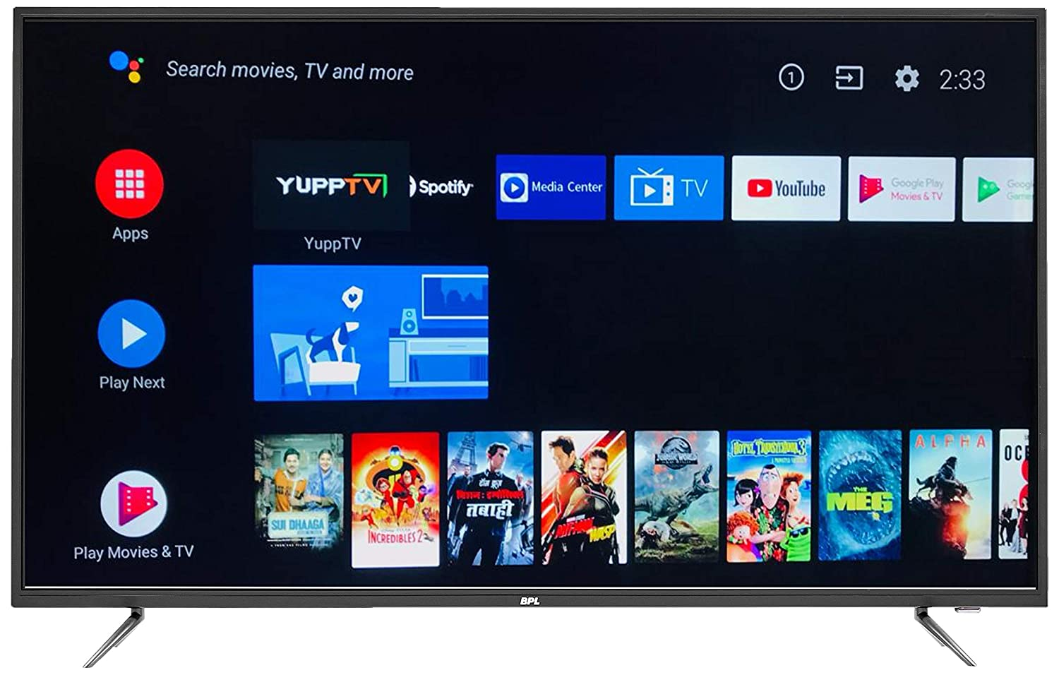 4K Ultra HD BPL (55 inches) Official Android LED Smart TV T55AU26A