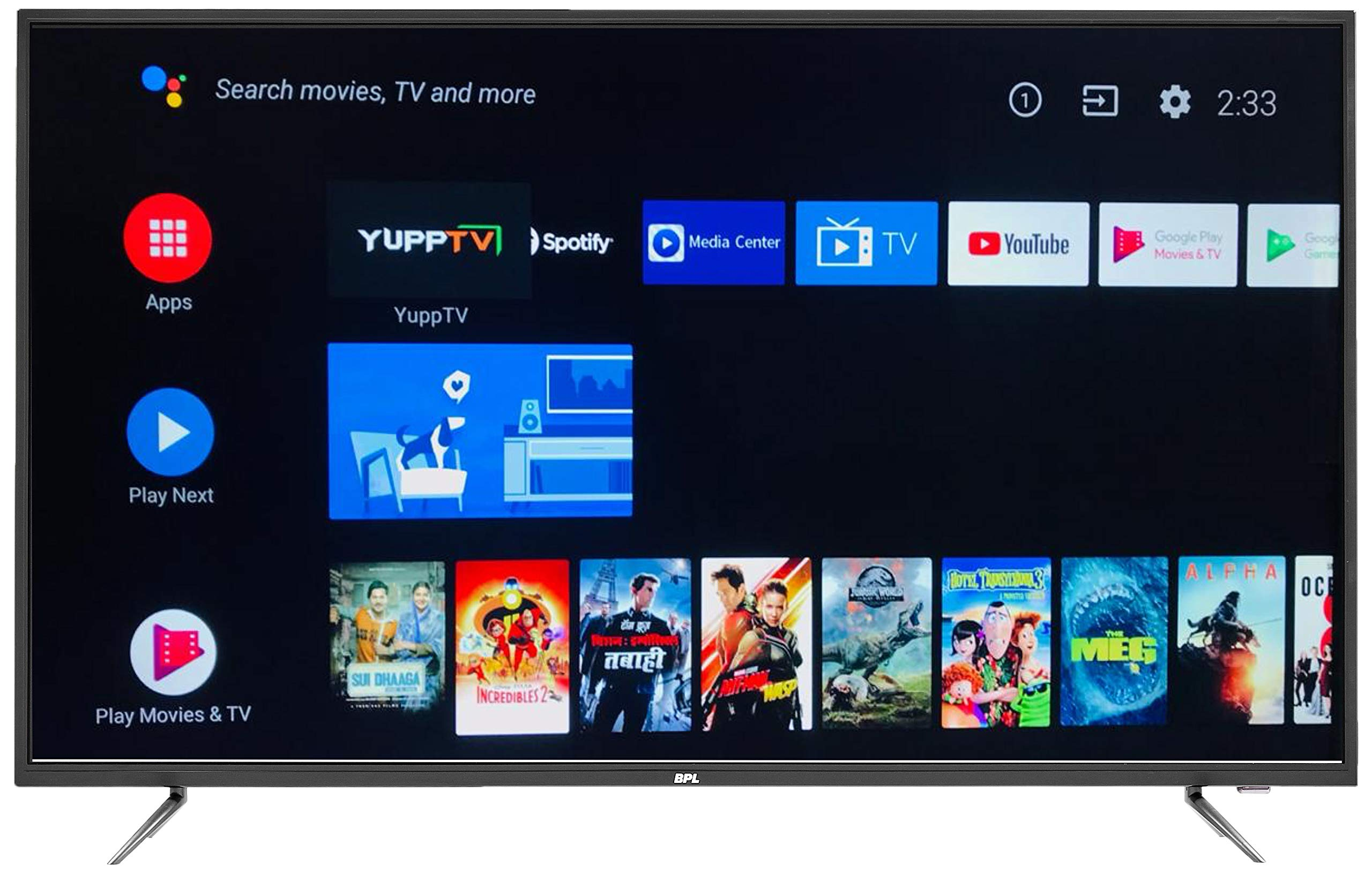 BPL 139 cm (55 inches) 4K Ultra HD Official Android LED Smart TV T55AU26A (Black)