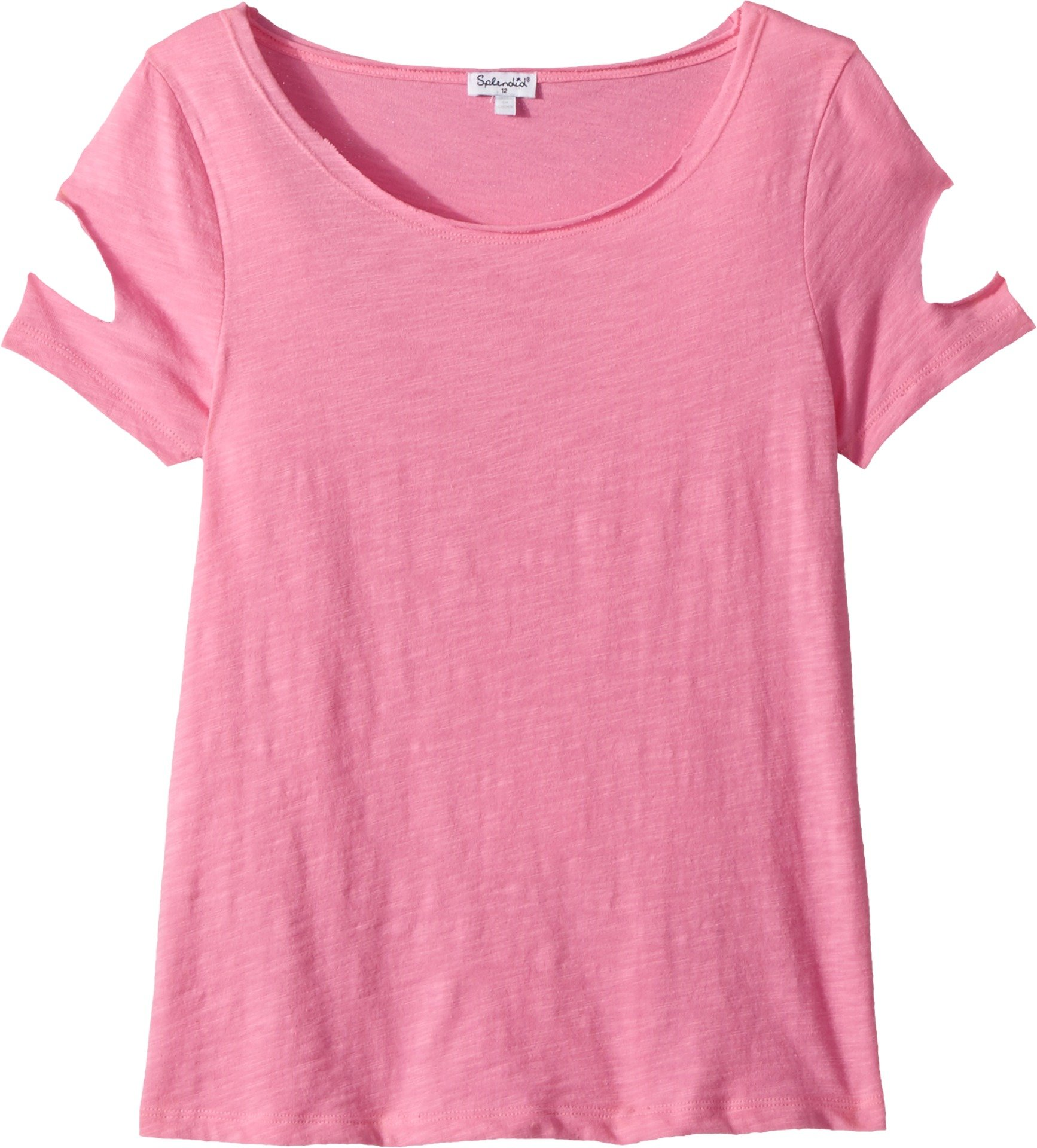 Splendid Big Girls' Cut Out Short Sleeve Top, Wild Orchid, 12