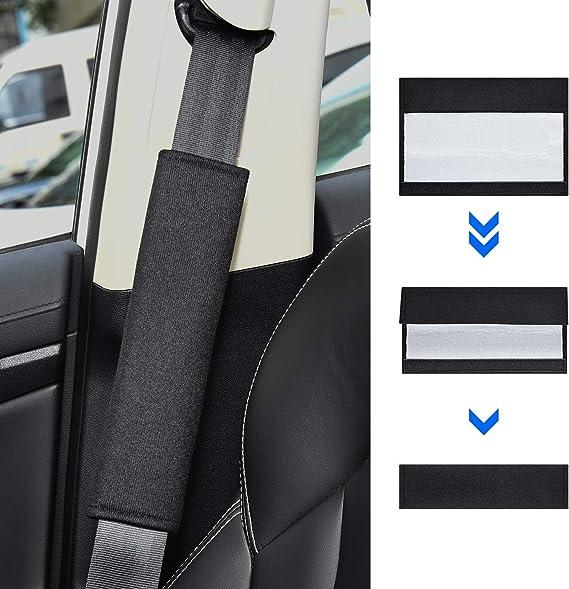 2 Stück Gurtpolster Auto Kinder Sicherheitsgurt Bügel Gurtschutz Gurtpolster Schulterpolster Schlafkissen Nackenstütze Für Kinder Auto