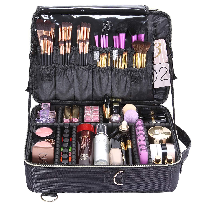 Lifewit Profesional Neceser Mujer Maquillaje Grande 3 Pisos Mochila para Mujer Estuche Bolso de Maquillaje Bolsa de Cosméticos Organizador con Divisor ...