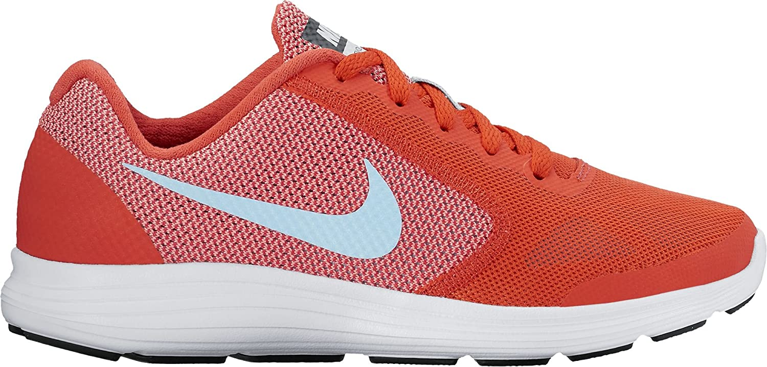 NIKE ' Revolution 3 (GS) Running Shoes B01GXWVY5S 4.5 M US Big Kid|Max Orange/Still Blue/Lava Glow/White