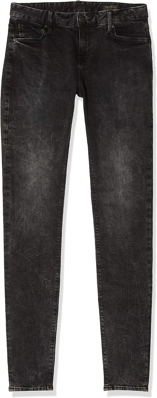 Herrlicher Damen Superslim Stretch Jeanshose Schwarz (Ivory Black 673)