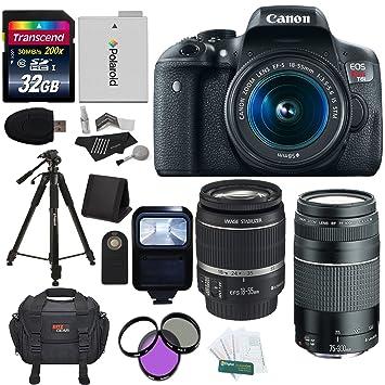 Amazon Com Canon Eos Rebel T5i 18 Mp Cmos Digital Slr 18