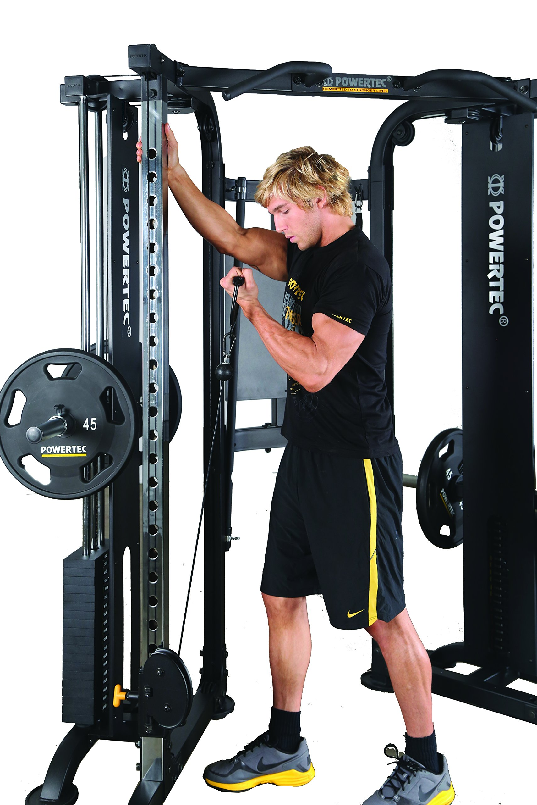 Powertec Fitness Functional Trainer Deluxe, Black by Powertec Fitness