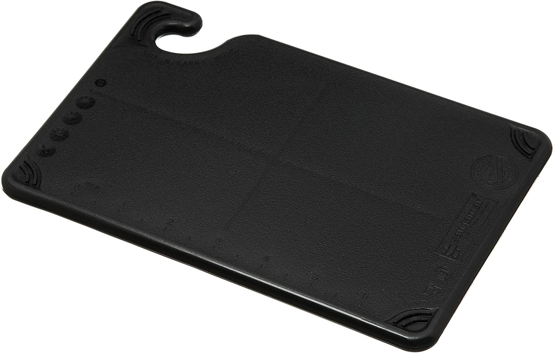 "San Jamar CBG6938 Saf-T-Grip Co-Polymer Bar Board, 9"" Length x 6"" Width x 3/8"" Thick, Black"