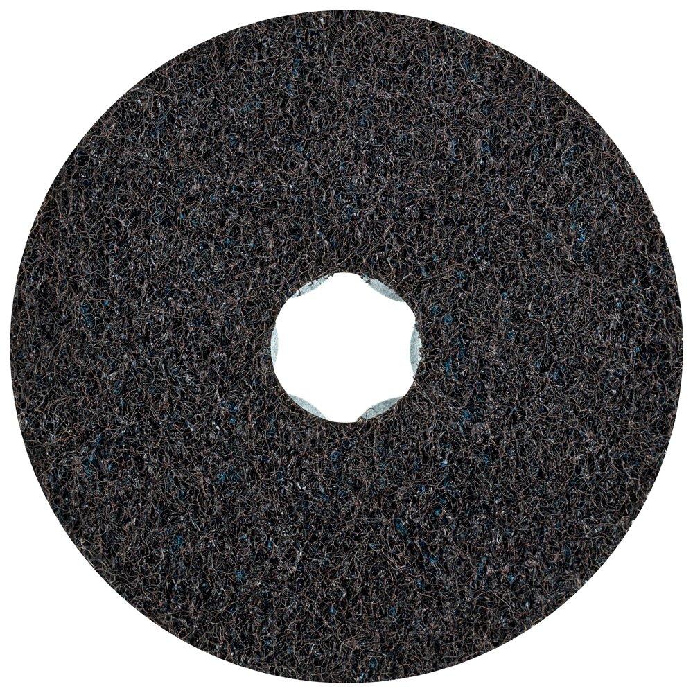 PFERD 48097 Combiclick Non-Woven Disc, Hard Type, 4'' Diameter, 12,000 RPM, Very Fine Grit (Pack of 10)