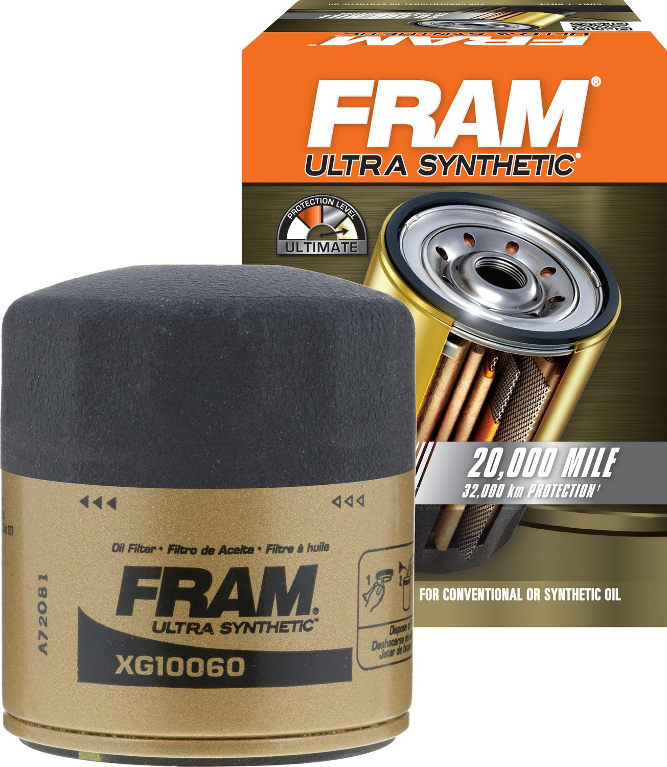 FRAM XG10060 Ultra Synthetic Spin-On Oil Filter with Sure Grip XG10060FTA