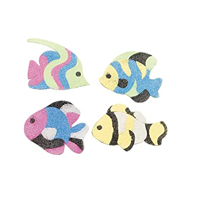Fish Sand Art Magnet Craft Kit - Crafts for Kids and Fun Home Activities: Toys & Games