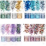 Unime Body Glitter 16 Colors Chunky Glitter for Body Face Hair