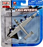 """Maisto Fresh Metal Tailwinds 1:210 Scale Die Cast United States Military Aircraft - U.S. Army Air Corps (USAAC) Long Range Heavy Bomber B-24 Liberator with Display Stand (Dimension: 5-3/4"""" x 3-1/2"""" x 1"""")"""