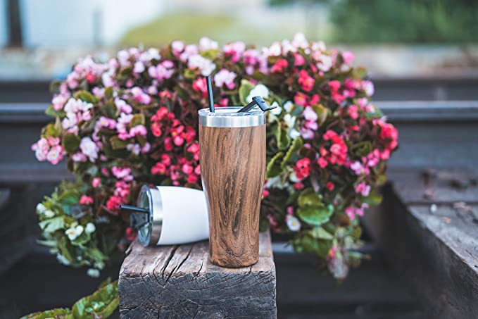 Simple Modern 22oz Slim Cruiser Tumbler With Straw & Closing Lid Travel Mug   Gift Double Wall Vacuum Insulated   18/8 Stainless Steel Water Bottle Pattern: Carrara Marble by Simple Modern
