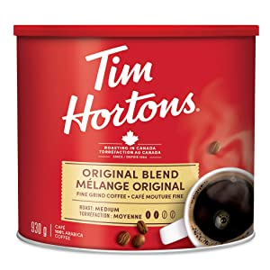 Tim Hortons Original Coffee, Fine Grind Coffee,medium, 930g/33oz.,{Imported from Canada}