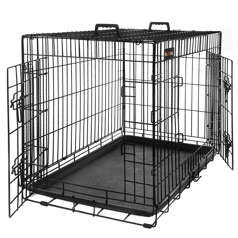 Transportín plegable de metal para perros Feandrea.