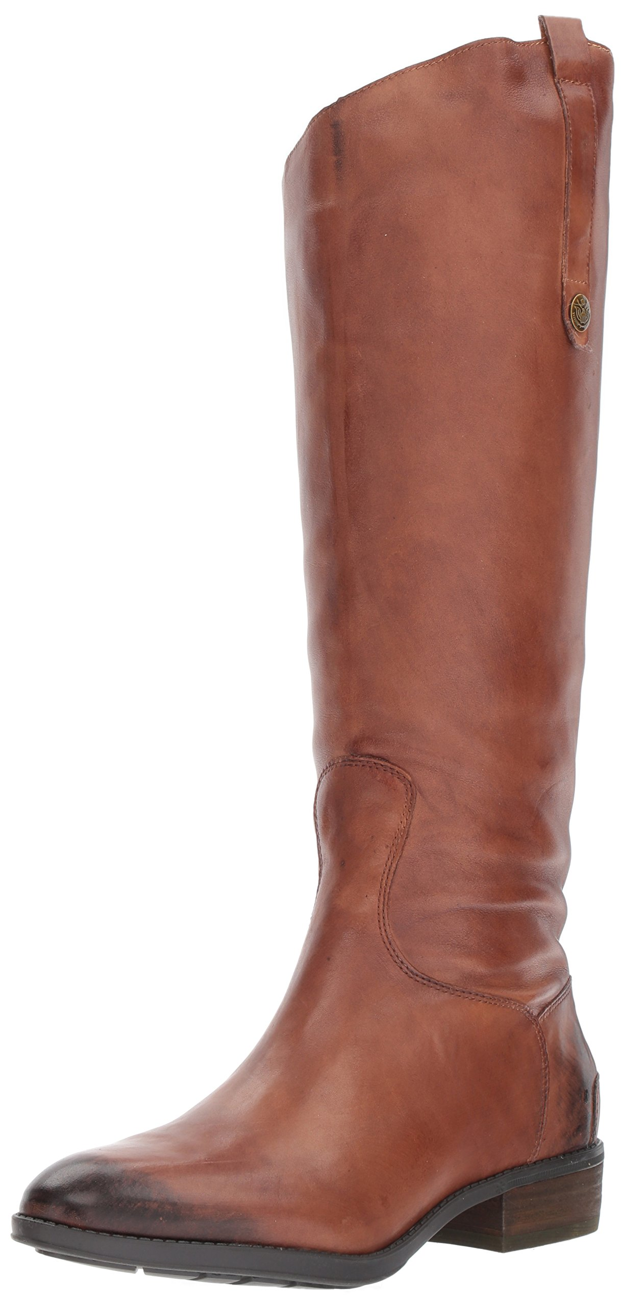 Sam Edelman Women's Penny Riding Boot, Whiskey Leather, 8.5 M US by Sam Edelman