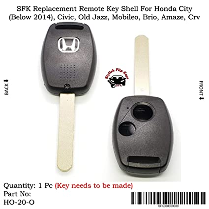 Sfk Replacement Remote Key Shell For Honda City Below 2014 Civic