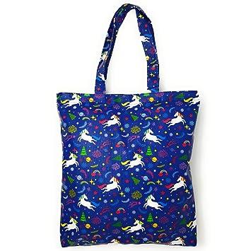 4ec6beace554 Amazon.com: Adeley Cute Blue Medium Unicorn Rainbow Reusable ...