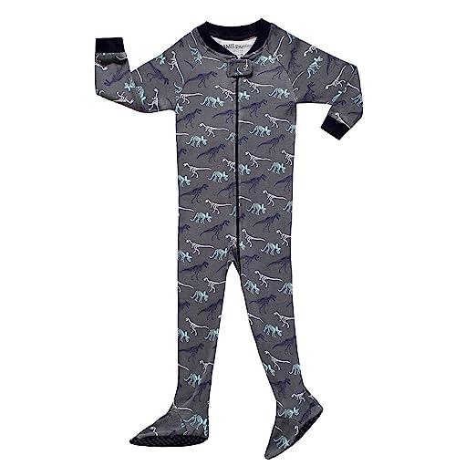 1e95d4a04 Amazon.com  MMII pajamas Little and Baby Boys Footed Dinosaur ...