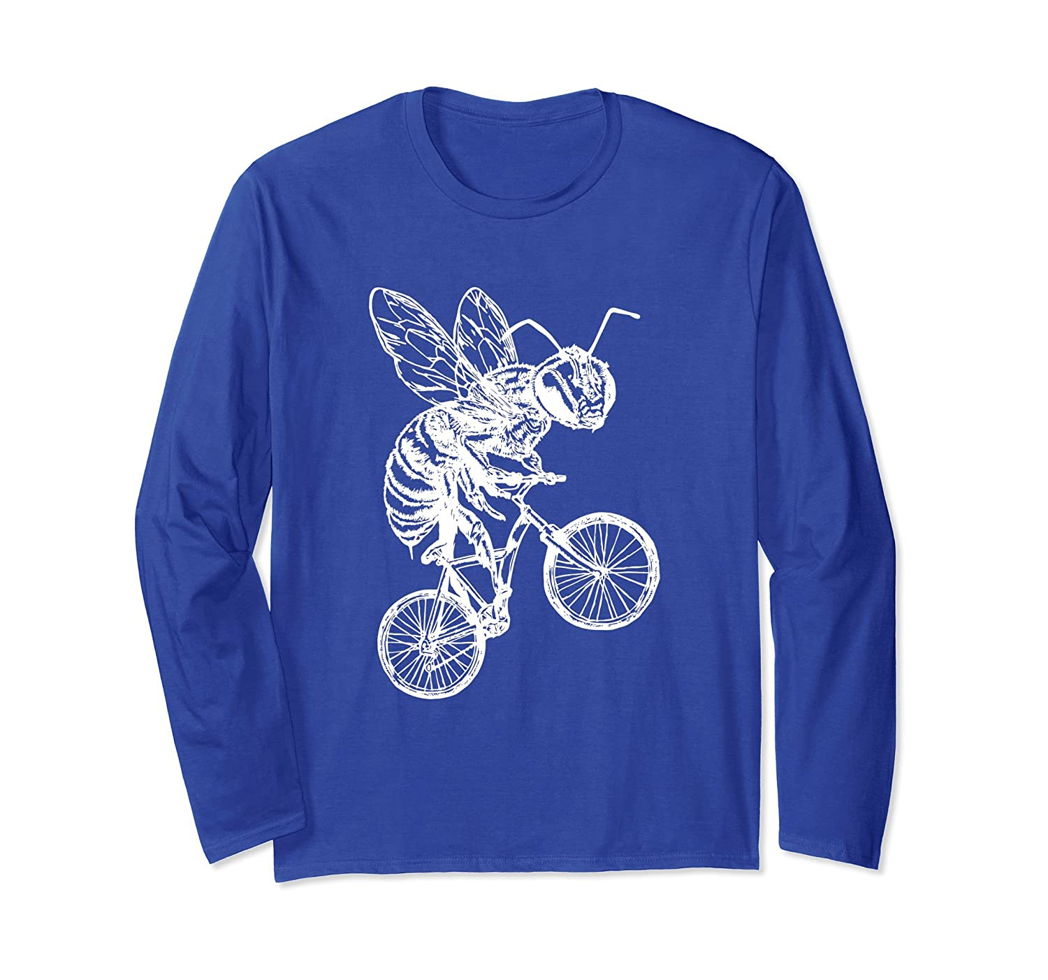 SEEMBO Bee On A Bicycle Long Sleeve T-Shirt Cycling Tee Gift-AZP
