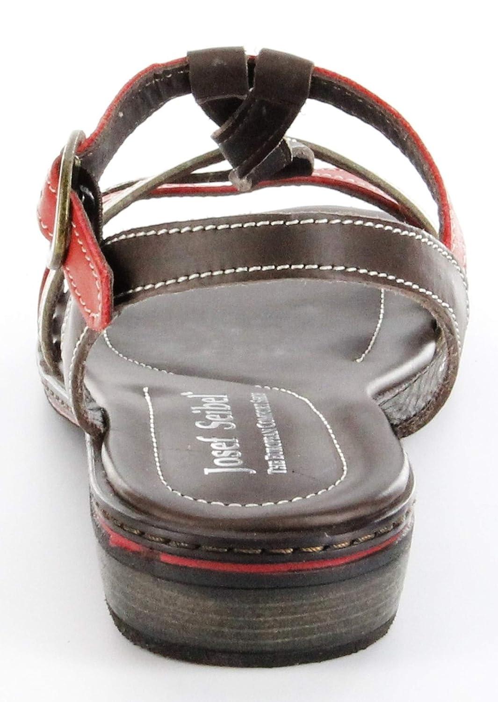 156f8d1a6e0a Josef Seibel Sandaletten braunrot Lederdeck Riemchen Leder Damen Schuhe  Lilly 03  Amazon.de  Schuhe   Handtaschen