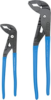 "product image for Channellock GL10 GripLock 1-3/4-Inch Jaw Capacity 9-1/2-Inch Utility Tongue and Groove Plier, Blue, 2 Piece Set, 9.5"", 12.5"""