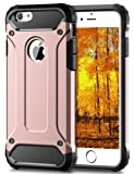 "iPhone 6S Plus Case, Coolden® Hybrid Rugged Dual Layer Armor Case iPhone 6 Plus Protective Case PC Back TPU Bumper Heavy Duty Case Cover for iPhone 6S Plus / 6 Plus 5.5""- Slim Hard Case Protection (Rose Gold)"