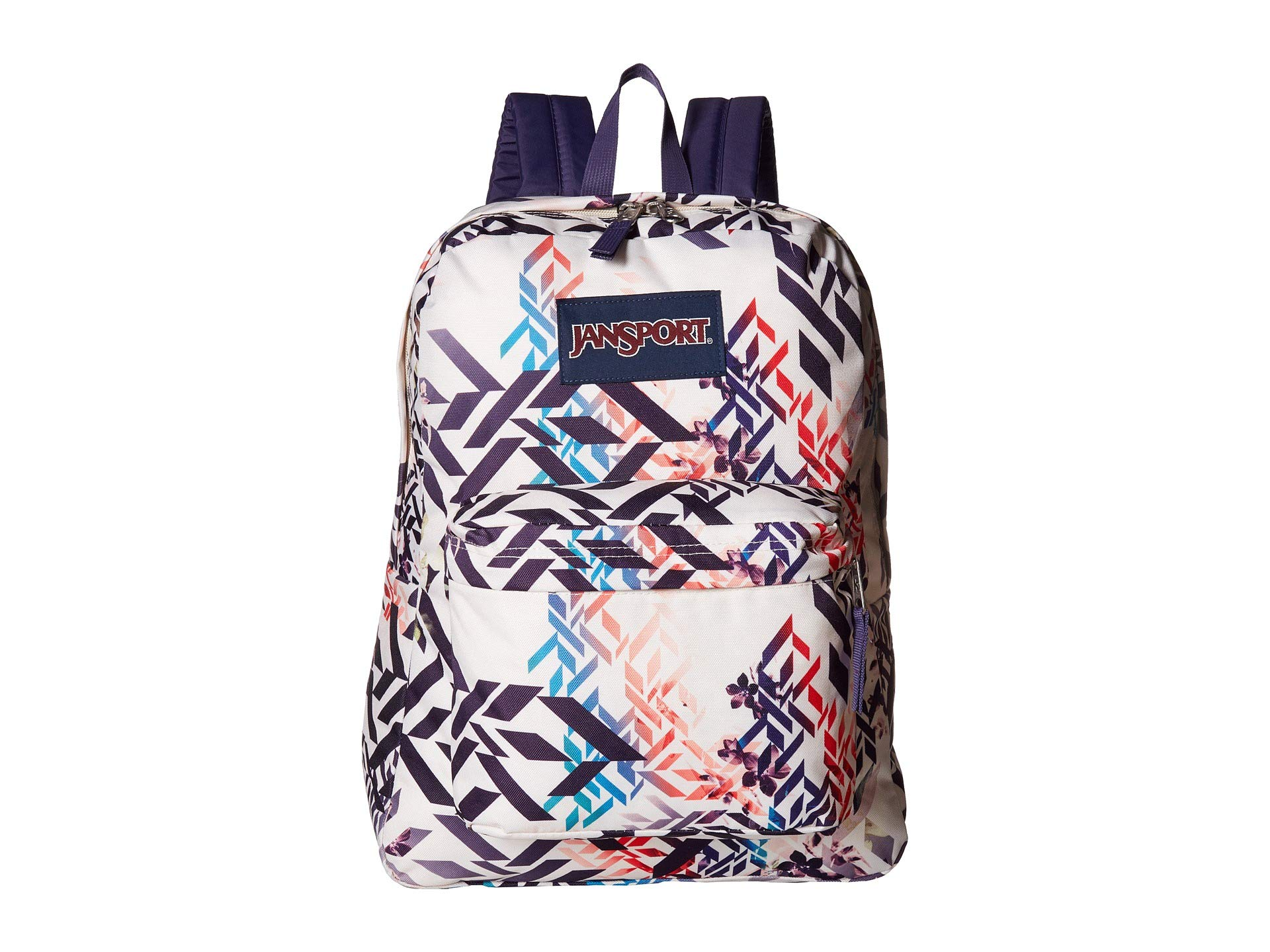 JanSport Superbreak Backpack - Botanical Geo - Classic, Ultralight