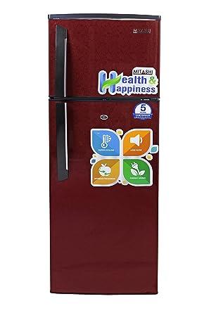 Mitashi 240 L 3 Star Direct Cool Double Door Refrigerator(MiRFDDM240V25, Maroon)