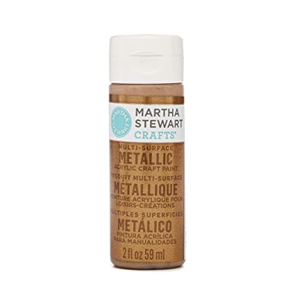 Martha Stewart Crafts Multi Surface Metallic Acrylic Craft Paint In  Assorted Colors (2