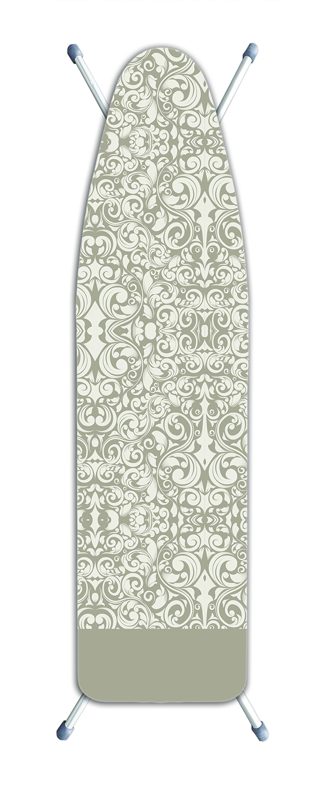 Laundry Solutions by Westex IB0320 Deluxe Extra Thick Damask Ironing Board Cover, Beige