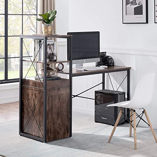 Deal of the week: VECELO Storage Cabinet,Computer 41 inch Study Desks Space-Saving Design Table Bookshelf,Drawer,Laptop Stand/Multipurpose Home Office Workstation