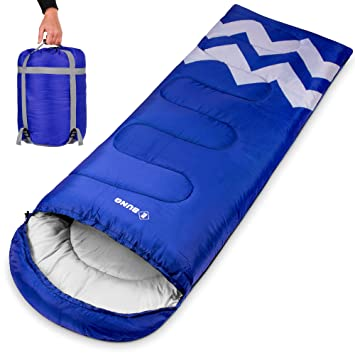 new arrival fe803 79023 Ebung Sleeping Bag for Cold Weather - Envelope Portable Ideal for Winter,  Summer, Spring, Fall - Outdoor Camping, Hiking, ...